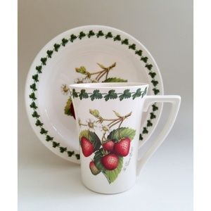 Other - Portmeirion Strawberry Fair Dessert Cake Plate Mug
